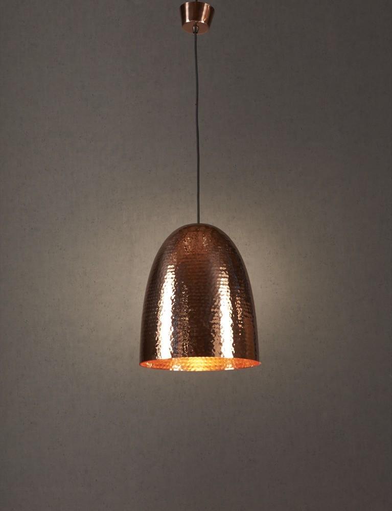 dolce beaten copper pendant light loading zoom