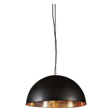 Alfresco Dome Black & Copper Pendant Light