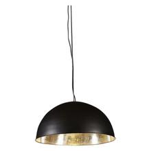 Alfresco Dome Black & Silver Pendant Light