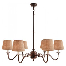 Prescot 6 Arm Antique Copper Chandelier