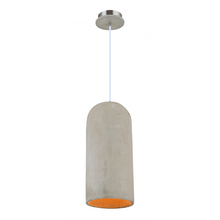 Cylindrical Concrete Pendant Light