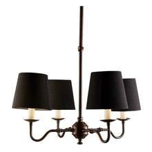 Milton 4 Light Dark Brass Chandelier