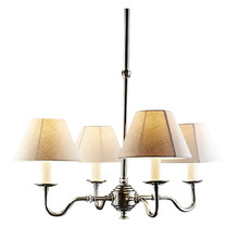 Milton 4 Light Silver Brass Chandelier