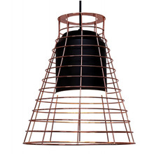 Black Cage Pendant - Tall