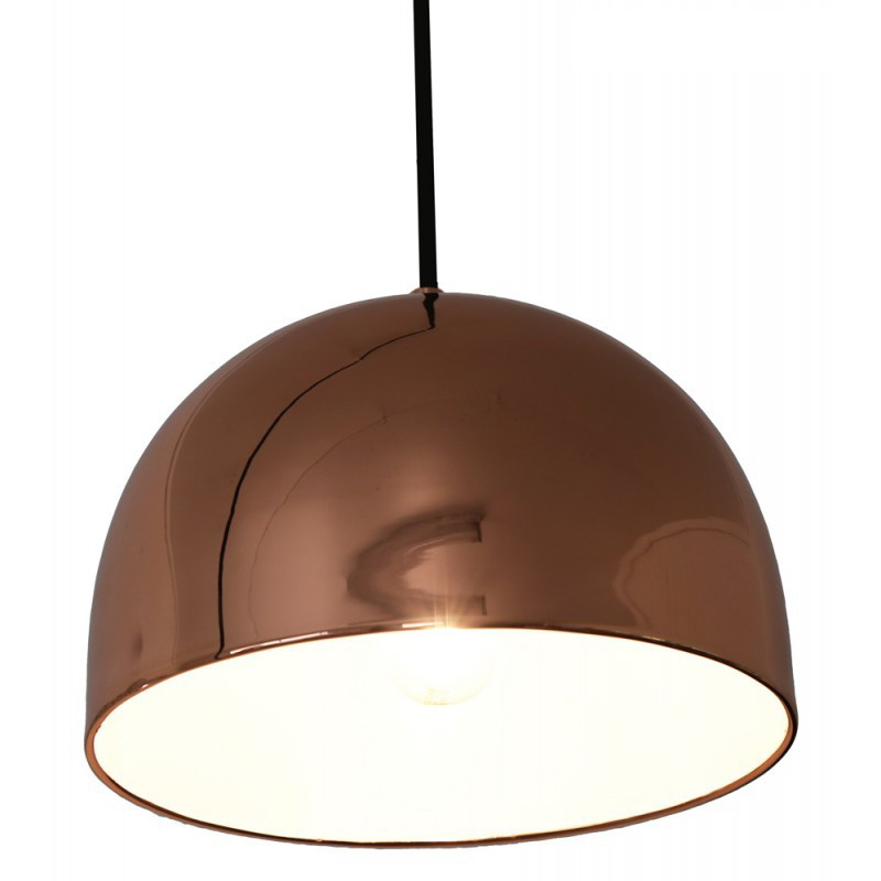 Captivating Dome Rose Gold Metal Pendant Lamp. Loading Zoom