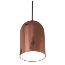 Barrel Rose Gold Metal Pendant Lamp - Large