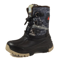 Nova Toddler Little Kid's Winter Snow Boots - WB02 Camouflage Grey