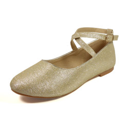Nova Utopia Toddler Little Girls Flat Shoes - NFGF041 Champagne Glitter