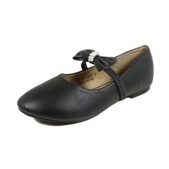 Nova Utopia Toddler Little Girls Flat Shoes - NFGF042 Black