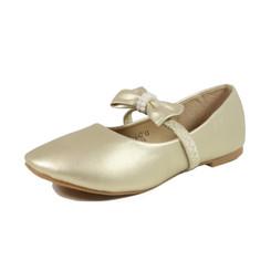 Nova Utopia Toddler Little Girls Flat Shoes - NFGF042 Champagne