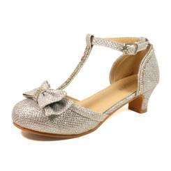 Nova Utopia Girls Heel Sandals - NFGF058 Silver