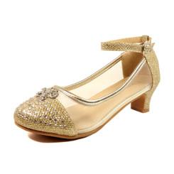 Nova Utopia Girls Heel Sandals - NFGF058B Champagne