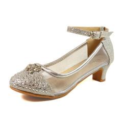 Nova Utopia Girls Heel Sandals - NFGF058B Silver