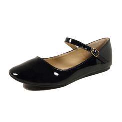Nova Utopia Women's Mary Jane Flats - NFLA01 Black Patent
