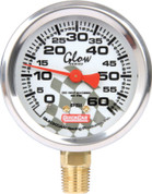 Tire Pressure Gauge Head - 0-60 psi - Glo - Quickcar Tire Pressure Gauges - Each