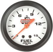 Gauge - Fuel Pressure - 0-15 psi - Mechanical - Analog - 2-5/8 in Diameter - White Face - Each