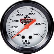 Gauge - Oil Temperature - 100-340 Degree F - Mechanical - Analog - 2-5/8 in Diameter - White Face - Each