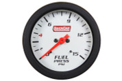 Gauge - Fuel Pressure - Extreme - 0-15 psi - Mechanical - Analog - 2-5/8 in Diameter - White Face - Built In Warning Light - Each