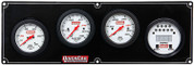61-7041  -  Gauge Panel Assembly - Extreme - Oil Pressure/Oil Temp/Digital Tachometer/Water Temp - White Face - Warning Light - Kit