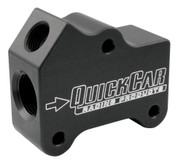 Oil Gallery Manifold - Straight - Dual 10 AN O-Ring Inlets/Outlets - 3/8 in NPT Female Port - Aluminum - Black Anodize - Each