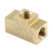 61-721 - Fitting - Adapter Tee - 1/8 in NPT Female x 1/8 in NPT Female x 1/8 in NPT Female - Brass - Natural - Each