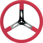 68-0041  -  Steering Wheel - 17 in Diameter - 3 Spoke - Steel - Black/Red - Each