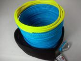 "3/16"" x 50 Feet - Warning Winch Rope - Blue"