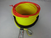"1/4"" x 50 Feet - Warning Winch Rope - Yellow"