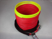 "1/4"" x 50 Feet - Warning Winch Rope - Red"