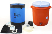 Includes Cool Zone Enclosure, Cooling Jacket with Quick Disconnects, Auber Two-stage Temperature Controller, Submersible Pump, Silicone Tubing and Fittings and 10-Gallon Water Cooler (Color may vary).