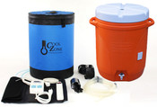 Includes Cool Zone Enclosure, Cooling Jacket with Quick Disconnects, 25W Heating Element, Two-stage Temperature Controller, Submersible Pump, Silicone Tubing and Fittings and 10-Gallon Water Cooler (Color may vary).