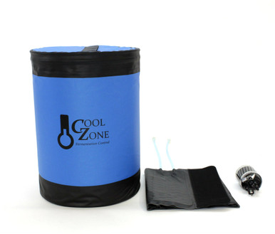 "Cool Zone Standard includes Cool Zone Enclosure, Cool Zone Cooling Jacket and quick disconnects for attaching to 0.5"" tubing,"