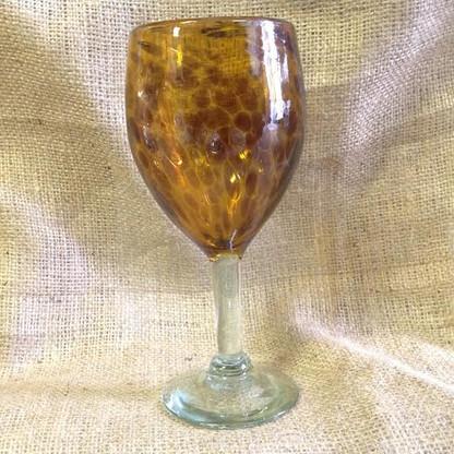 Tortoise Colored Wine Glass