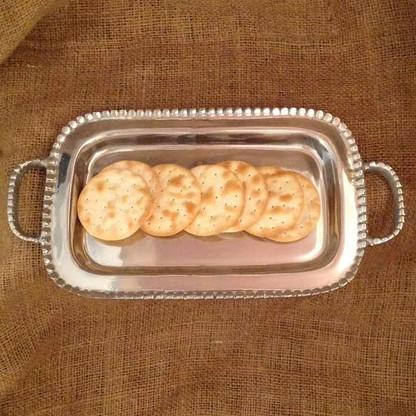 Beaded Handle Small Tray