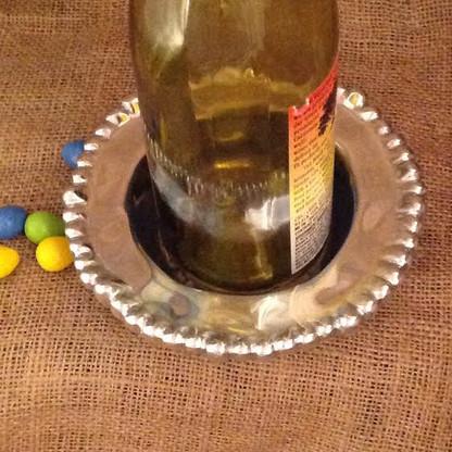 Hammered Beaded Wine Coaster