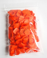 1813-OR-100, Cap, Orange, HP & Canon Small Ink Ports, Pack of 100