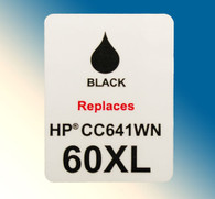 4704, Label HP 60XL CC641W Black