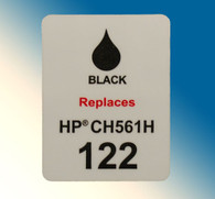 4709, Label HP CH561H #122 Black