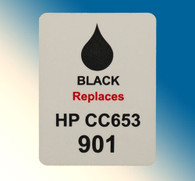 4718, Label HP CC653 #901 Black