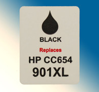 4719, Label HP CC654 #901xl Black HC