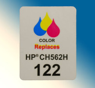 4739, Label HP CH562H #122 Color