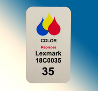 4839, Label Lexmark 18C0035 Color