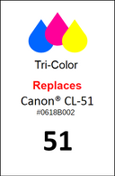 4857, Label, Canon CL-51 Color - Sheet of 63 Labels