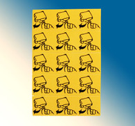 "LAB109, Label Yellow Remove Pull Tab 5/8"" x 2"" (Strip of 5)"