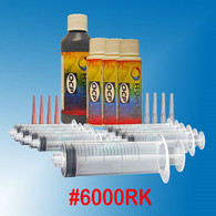 6000RK, Professional Refill Kit for Brother LC-61/65/71/75/79/103/105/107 Ink Cartridges