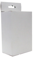 "4940, White Retail Hang Tab Hole Box, For most all Ink Cartridges, 3-1/4"" x 2"" x 5"""