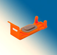 1815-OR-1000, Cap/Clip Orange Small Canon CLI-251