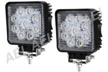 2 X 27w LED Work Lights (Square, 9-32V Multi Voltage)