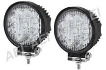 2 X 27w LED Work Lights (Round, 9-32V Multi Voltage)