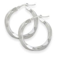 1 Inch Sterling Silver Hoop Earrings